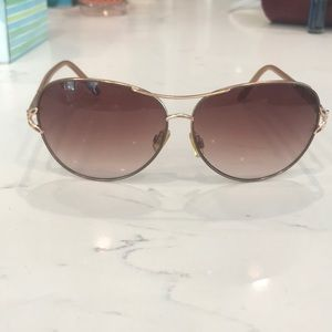 Tahari Accessories - Tahari gold aviator sunglasses